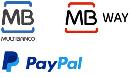 Formas de pagamento - MB Multibanco, Mb Way e Paypal